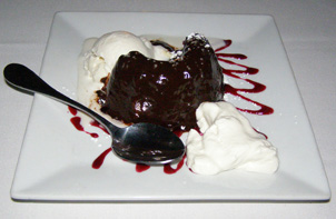 Molten Lava Cake - 75 Main Restaurant Lounge Club, Southampton, Long Island, New York - Photo by Luxury Experience